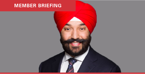 Member briefing with Minister Navdeep Bains